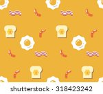 flat cute delicious breakfast   ... | Shutterstock .eps vector #318423242