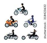 biker wear protective... | Shutterstock .eps vector #318423632