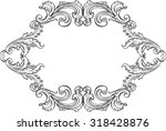 the acanthus art  nice vintage... | Shutterstock .eps vector #318428876
