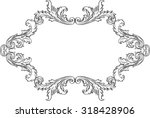 orient acanthus frame is on...   Shutterstock .eps vector #318428906