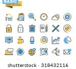 trendy flat line icon pack for... | Shutterstock .eps vector #318432116