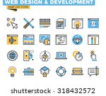 trendy flat line icon pack for... | Shutterstock .eps vector #318432572
