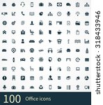office 100 icons universal set... | Shutterstock . vector #318433946