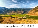keremeos view from the hill.... | Shutterstock . vector #318435176