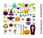 flat style vector set of...   Shutterstock .eps vector #318436022