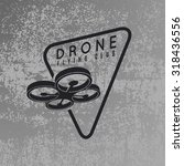 drone logo concept on grey... | Shutterstock .eps vector #318436556
