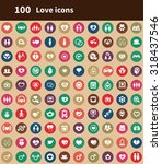 love 100 icons universal set...   Shutterstock . vector #318437546