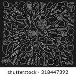 cartoon sketch arrows and... | Shutterstock .eps vector #318447392