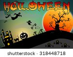 halloween design background... | Shutterstock . vector #318448718