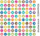 home 100 icons universal set... | Shutterstock . vector #318449426