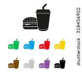 fast food   vector icon | Shutterstock .eps vector #318456902