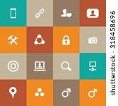 social media icons universal... | Shutterstock . vector #318458696
