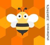 vector bees flat design   Shutterstock .eps vector #318459476