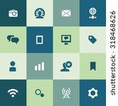 social media icons universal...   Shutterstock . vector #318468626