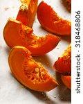 roasted pumpkin   Shutterstock . vector #318468806
