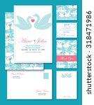 vector swans wedding invitation ... | Shutterstock .eps vector #318471986