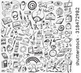 art tools   school   doodles set | Shutterstock .eps vector #318472982