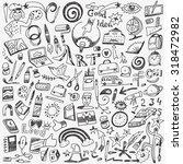 art tools   school   doodles set   Shutterstock .eps vector #318472982