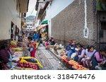 cusco  peru   circa march  2015 ...   Shutterstock . vector #318474476