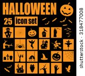 halloween icon set. holiday... | Shutterstock .eps vector #318477008
