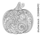 vector monochrome decorative... | Shutterstock .eps vector #318488492
