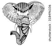 stylized elephant illustration. ...   Shutterstock .eps vector #318496106