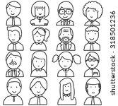 vector set of people | Shutterstock .eps vector #318501236
