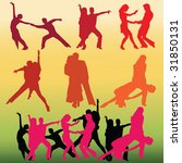 dancing silhouettes | Shutterstock .eps vector #31850131