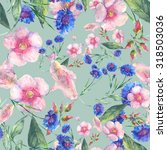 beautiful floral seamless... | Shutterstock . vector #318503036