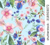 beautiful floral seamless... | Shutterstock . vector #318503072