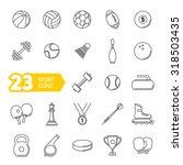 vector black sports icons set | Shutterstock .eps vector #318503435