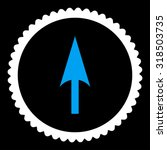arrow axis y round stamp icon....   Shutterstock .eps vector #318503735