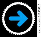 arrow right round stamp icon....