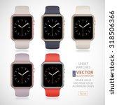 5 new modern shiny sport smart... | Shutterstock .eps vector #318506366