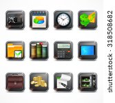 set of square icons for... | Shutterstock .eps vector #318508682