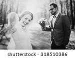 Young Wedding Couple In Love...