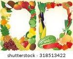 fresh fruits and vegetables... | Shutterstock .eps vector #318513422