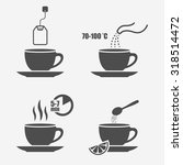 tea preparation instruction... | Shutterstock .eps vector #318514472