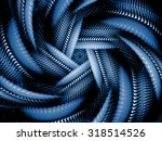blue abstract fractal... | Shutterstock . vector #318514526