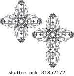 christian crosses | Shutterstock .eps vector #31852172