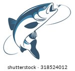 the figure shows the fish chub   Shutterstock .eps vector #318524012