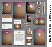 blurred purple corporate... | Shutterstock .eps vector #318528866