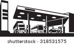 vehicles at gasoline station   ...   Shutterstock .eps vector #318531575