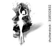 ballerina in dance. watercolor... | Shutterstock .eps vector #318532832