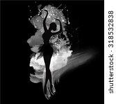 ballerina in dance. watercolor... | Shutterstock .eps vector #318532838
