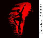 ballerina in dance. watercolor...   Shutterstock .eps vector #318532856