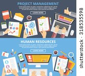 project management  human... | Shutterstock .eps vector #318535598