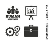 human resources and business... | Shutterstock .eps vector #318535745