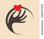 hand holding a heart icon | Shutterstock .eps vector #318537245