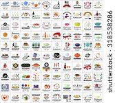 restaurant flat icons set ... | Shutterstock .eps vector #318538286